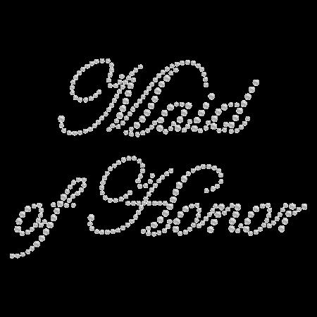 Simple Crystal Maid of Honor Rhinestone Iron ons