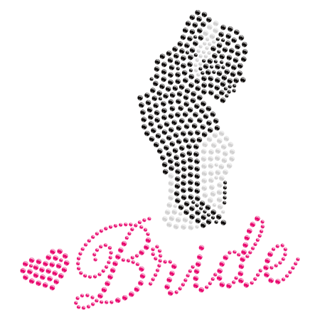 Rhinestone Bride Figure Iron on Transfer