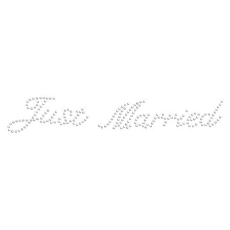 Just Married Rhinestone Iron on Motif