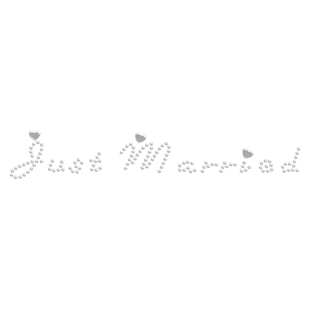 Just Married with Small Nailhead Hot fix Rhinestone Design