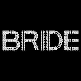 Iron on Crystal Double Row Bride Rhinestone Image