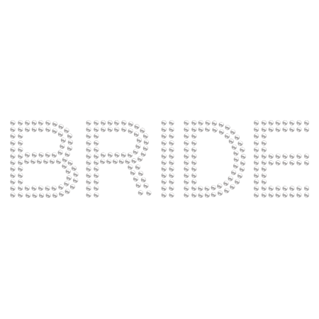 Iron on Crystal Double Row Bride Rhinestone Image