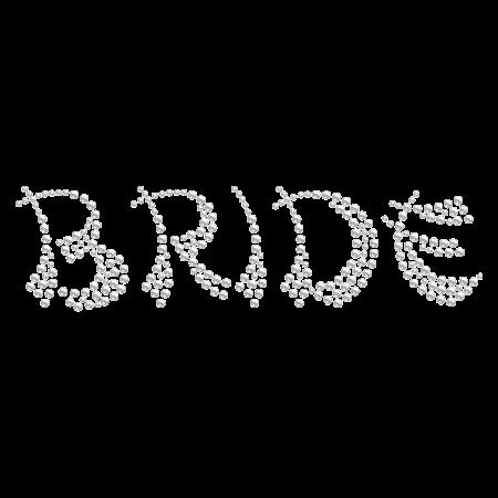 Cute Crystal BRIDE Rhinestone Iron ons
