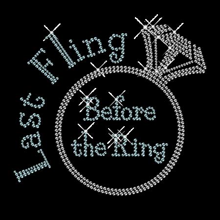 Bling Hotfix Diamond Ring Rhinestone Transfer