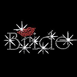 Crystal Bride Red Kiss Hot-fix Rhinestone Transfer