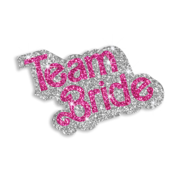 Custom Pretty Team Bride Iron-on Glitter Transfer Design