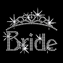 Crystal Bride Crown Hot-fix Rhinestone Transfer