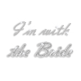 Crystal I\'m with the Bride Iron-on Rhinestone C-Sequin Glitter Transfer