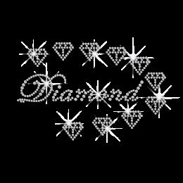 Crystal Wedding Diamonds Iron-on Rhinestone Transfers
