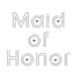 Crystal Maid of Honor Iron on Rhinestone Transfer