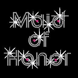Crystal Maid of Honor Iron on Rhinestone Transfer