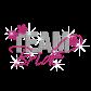 Pink Team Bride Heat Press Rhinestone Transfer Motif