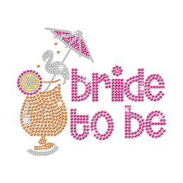 Would You Like to Be My Bride Iron on Bling Transfer