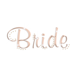 Custom Rose Gold Holofoil Bride Rhinestud Transfer