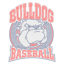 Bulldog Basketball Hotfix Stone Transfer for t shirt