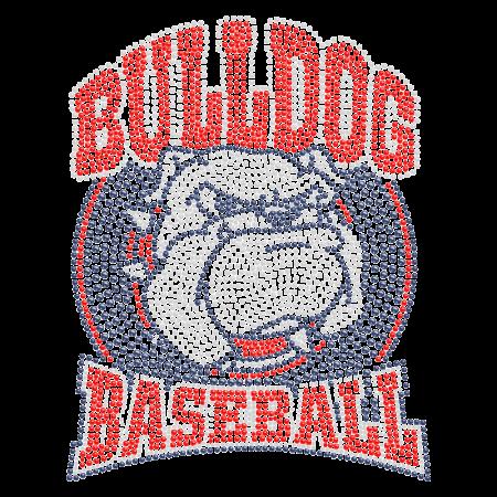 Bulldog Basketball Hotfix Stone Transfer for t shirt