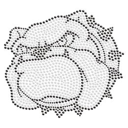 Wrathful Bulldog Hotfix Crystal Design for Clothing