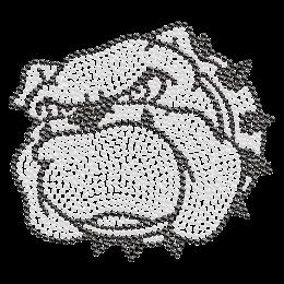 Wrathful Bulldog Hotfix Crystal Design for Clothing