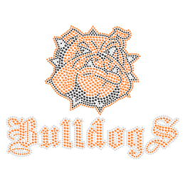 Good-looking Bulldog Rhinestone Iron ons for t shirt