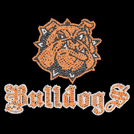 Good-looking Bulldog Rhinestone Iron ons for t shirt