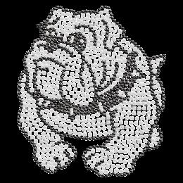 Cute Baby Bulldog Bling Iron on Pattern for t shirt