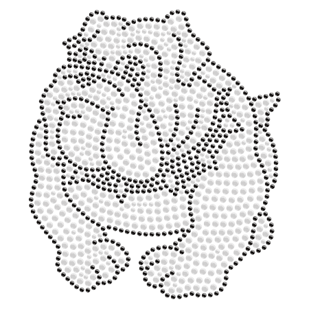 Cute Baby Bulldog Bling Iron on Pattern for t shirt