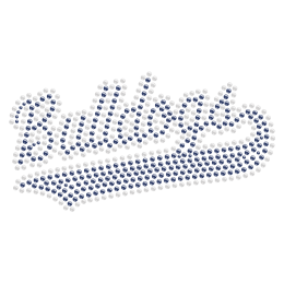 Bulldog Lettering Hotfix Crystal Design