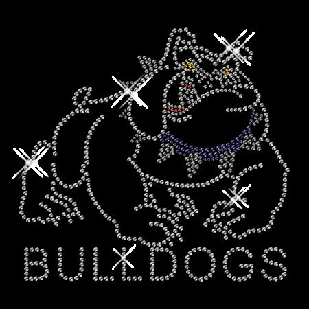 foto de Custom Sparkling Pure Crystal Bulldogs Rhinestone Iron on Transfer ...
