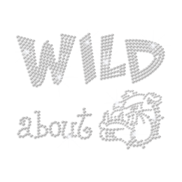 Wild about Bulldog Iron on Rhinestone Transfer Decal