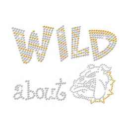 Crystal & Gold Wild about Bulldog Rhinestone Transfer