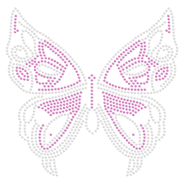 Purple Butterfly Crystal Iron ons Design for t shirt
