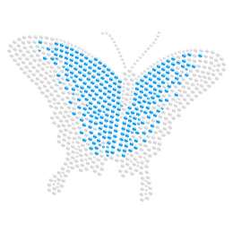 Hotfix Stone Butterfly Rhinestone Transfer for t shirt