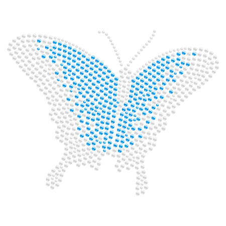 Hotfix Stone Butterfly Rhinestone Transfer for t shirt