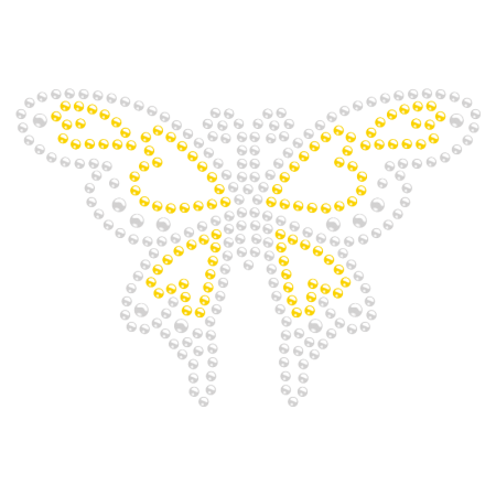 Bling Bling Butterfly Rhinestone Iron ons