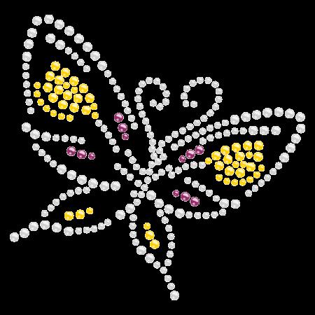 Dancing Butterfly Hotfix Rhinestone Pattern for Children