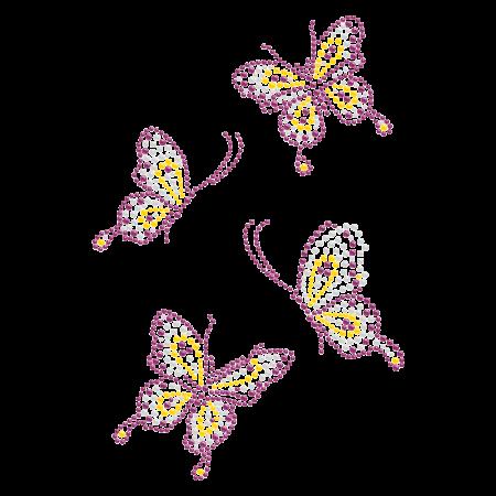 Elegant Bling Butterflies Rhinestone Iron ons