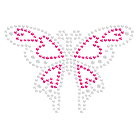 Bling Bling Diamante Iron on Butterfly Motif for t shirt