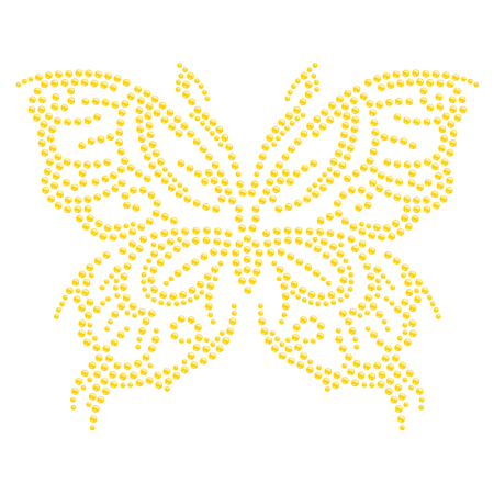 Iron on Golden Bling Butterfly Transfer for t shirt