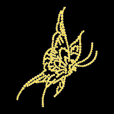 Yellow Butterfly Hotfix Diamante Transfer Pattern