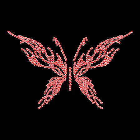 Sparkling Bling Butterfly Hot fix Rhinestone Pattern