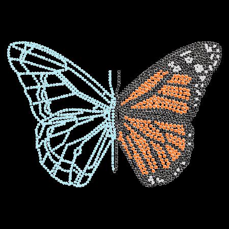 Hotfix Rhinestone Butterfly Transfer for Clothing