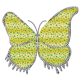 Iron on Glitter Butterfly motif Pattern for t shirt