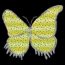 Iron on Glitter Butterfly motif Pattern for t shirt