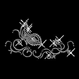 Rhinestone Butterfly Collar Hotfix Transfer Design
