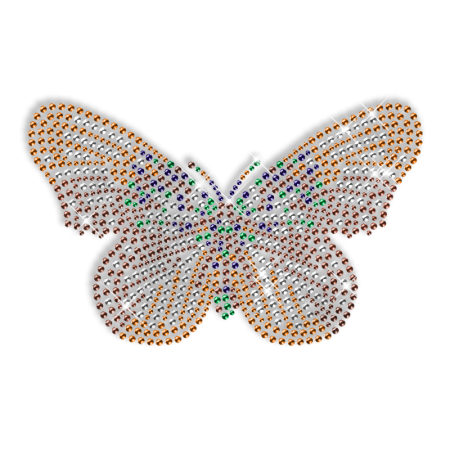 Rhinestone Butterfly Iron ons Design for T shirt