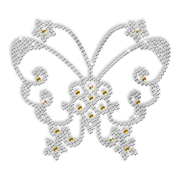 Simple Image Hotfix Rhinestone Butterfly Design