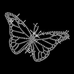 Clear Crystal Butterfly Hotfix Diamante Motif