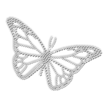 Clear Crystal Butterfly Hotfix Diamante Motif