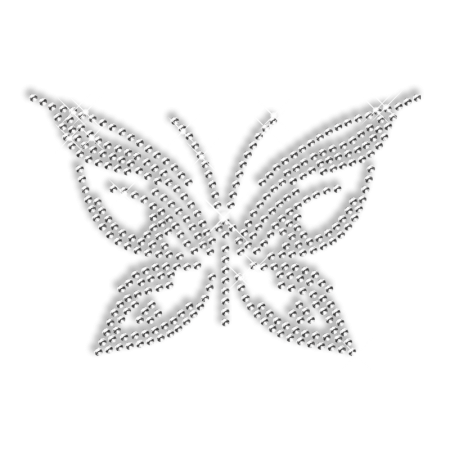 Bling Butterfly Iron on Small Motif Design