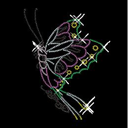 Volant Butterfly Hotfix Rhinestone Image Transfer